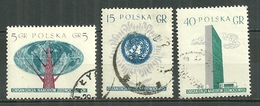 POLAND Oblitéré 885-887 En L'honneur Des Nations Unies Arbre Emblème Palais - 1944-.... République