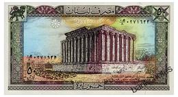 LEBANON 50 LIVRES 1988 Pick 65d Unc - Lebanon