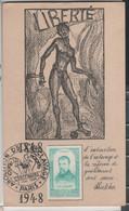 CACHET ABOLITION DE L'ESCLAVAGE PARIS 9 MAI 1948 CENTENAIRE DE LA ABOLITION DE L'ESCLAVAGE - Cachets Commémoratifs