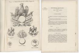 """Héraldique - Livret Ministère De L'intérieur """"dépenses Uniforme"""" Avec Illustrations - Documentos Históricos"""