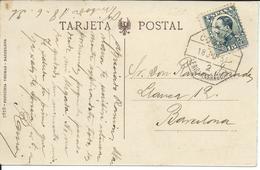Edifil N.º 493. Postal Circulada De Vimbodi A Barcelona. Circulada El 18 De Junio De 1931. Matasello Ambulante De Lerida - 1889-1931 Kingdom: Alphonse XIII