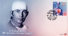 South Africa - 2017 50th Anniversary Of First Heart Transplant FDC - Celebrità
