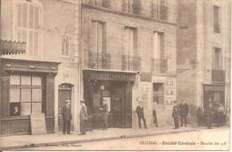 PEZENAS (34) Société Générale En 1913 (Belle Animation) - Pezenas