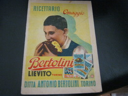 LIBRETTO PUBBLICITARIO BERTOLINI - Etiquettes