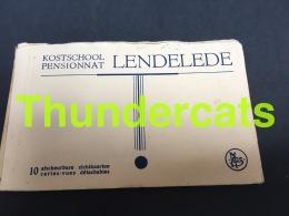 CARNET DE 10 CPA BOEKJE 10 KAARTEN LENDELEDE PENSIONNAT KOSTSCHOOL - Lendelede
