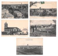 Lot De 5 CPA De Fougerolles (70) Haute Saône - Autres Communes