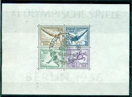 Deutsches Reich, Olympische Spiele 1936, Block 5 Gestempelt - Deutschland