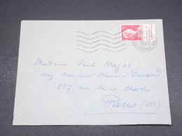 FRANCE - Enveloppe De Villefranche De Rouergue Pour Paris En 1956 , Affranchissement Muller Avec Bande Pub - L 18164 - 1921-1960: Periodo Moderno