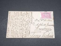 PORTUGAL - Carte Postale Pour Torres Vedras En 1910 , Affranchissement Plaisant - L 18166 - 1910-... République