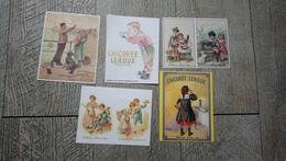 Lot 5 Calendriers Chicorée Leroux 1982  1983  1984  1988  1990 Publicité Calendrier - Calendriers