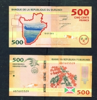 BURUNDI  -  2015  500 Francs  UNC  Banknote - Burundi