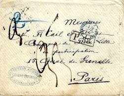 1868- Cover From St Petersbourg  To Paris - P. 38  +French Rating 33 Black -  +  Blue French Entrance - 1857-1916 Imperium