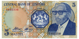 LESOTHO 5 MALOTI 1989 Pick 10a Unc - Lesotho