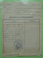 LE HAVRE 3° Corps D'Armée /Bulletin De Correspondance Du C.A. Du 1° Régiment D'Artillerie à Pied. - Documenten