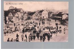 Lida Marktplatz 1917 Feldpost OLD POSTCARD 2 Scans - Belarus