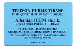 Albanian ICEM - Blue (3 Mm) MINT - Albania
