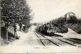 77 VAIRES-SUR-MARNE - La Gare (train) - ND PHOT N° 1 - Vaires Sur Marne
