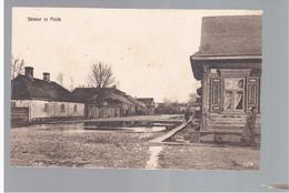 Pinsk Eine Strasse 1916 OLD POSTCARD 2 Scans - Weißrussland