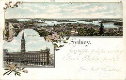 Australia, SYDNEY, N.S.W., Panorama, Post Office (1902) Litho Postcard - Sydney