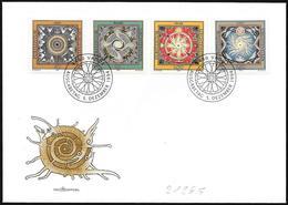 Liechtenstein: FDC, I 4 Elementi (Terra, Acqua, Fuoco, Aria), The 4 Elements (Earth, Water, Fire, Air), Les 4 éléments - Astrologia