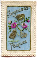 FANTAISIE(CARTE BRODEE) PAQUES - Embroidered