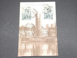 FRANCE - Affranchissement ( Rouget De Lisle ) De Chalons Sur Marne Sur Carte Postale En 1936 Pour Paris - L 18236 - Marcophilie (Lettres)