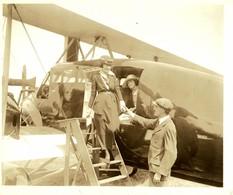 CURTISS  TEST PILOT BERT ACOSTA  CURTISS EAGLE   25 * 20 CM Aviation, AIRPLAIN, AVION AIRCRAFT - Aviación