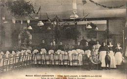 D77  SAMOIS SUR SEINE  Maison Bégat Gosseron Hôtel St Joseph Salon De 200 Couverts - Samois