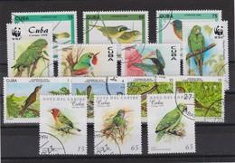 CUBA Faune:  Petit Lot D'Oiseaux, Oblitérés - Collections, Lots & Series
