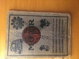 """""""MOTOR""""PRONTUARIO DATI TECNICO CARATTERISTICI DEI MOTORI PER CICLI/AUTO-AVUAZIONE-NAVIGAZIONE ED INDUSTRIE-pagg..64 - Books, Magazines, Comics"""