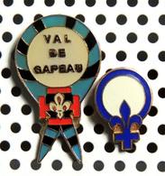Lot De 2 Pin's Scouts : Val De Gapeau Et 1 émaillé à Identifier - Armee