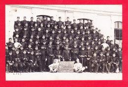 Milit-656A69  Carte Photo, Un Groupe De Militaires, 123ème Régiment D'infanterie, 2ème Compagnie, Cpa BE - Unclassified