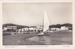 Espagne,spain,islas Baleares,IBIZA,san Antonio Abad,vista ,vue Sur La Mer,et Les Fetards Déja,rare,voilier,pécheur - Ibiza