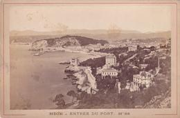 06,alpes Maritimes,NICE EN 1900,PHOTO ANCIENNE,PORT,FRONTIERE ITALIENNE,BAIE DES ANGES,PAILLON,MER MEDITERRANEE - Lieux