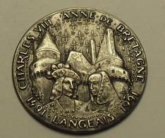 1991 - France - Médaille - Langeais - Charles VIII - Anne De Bretagne (1491/1991) - Tourist