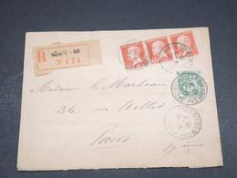 FRANCE - Enveloppe En Recommandé De Boulogne Sur Mer Pour Paris En 1926 , Affranchissement Plaisant - L 18251 - Postmark Collection (Covers)