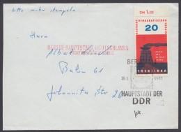 "Postkrieg, Mi-Nr. 975, EF Auf Ortsbrief ""Berlin"" Mit Rotem L2 Gegenstempel - Berlin (West)"