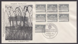"""Mi-Nr. 140y, FDC """"Brandenburger Tor"""", 6erBlock Und EW, Pass. Brief Mit ESst - Briefe U. Dokumente"""