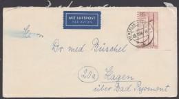 Mi-Nr. 157, Randstück Als EF Auf Luftpost - Berlin (West)
