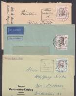 """Mi-Nr. 163, 167, 169, """"Persönlichkeiten"""", Je Als EF Auf Bedarfsbrief - Briefe U. Dokumente"""