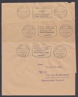 """""""Postscheckbrief"""", Ortsbrief 1961, 3 Versch. Stempel """"Berlin West"""" - Berlin (West)"""