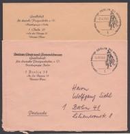 """Postsache"", 2x Ortsbrief 1968/69 - Berlin (West)"