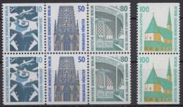Mi-Nr. 794, 796, 798, 834 C/D, SwK: 4 Versch. C/D- Paare, ** - Berlin (West)