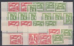 Mi-Nr. I/II, Paketzulassungsmarken 1961, 28 Werte Bis Zu 4er ZD, ** - Markenheftchen