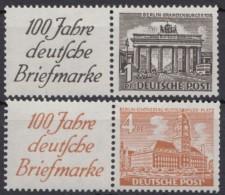 """Mi-Nr. W1, W5, """"100 Jahre Briefmarke"""", 2 Versch. ZD, ** - Berlin (West)"""
