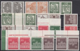 10 Versch. ZD 50er/60er Jahre, ** - Zusammendrucke