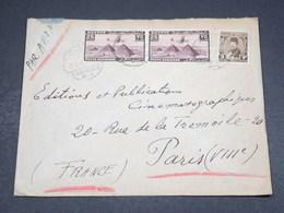EGYPTE - Enveloppe Commerciale De Alexandrie Pour Paris En 1946 , Affranchissement Plaisant - L 18256 - Covers & Documents