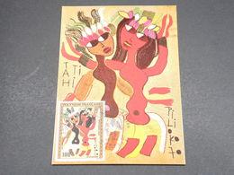 POLYNÉSIE - Carte Maximum 1972 , Tableaux  - L 18262 - Cartes-maximum