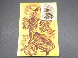 POLYNÉSIE - Carte Maximum 1972 , Tableaux  - L 18263 - Cartes-maximum