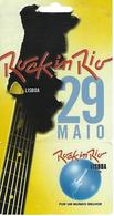 Ticket Rock In Rio - Lisbon - Portugal - Musique & Instruments